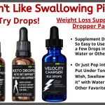 Don't Like Swallowing Weight Loss Pills?  Try These Weight Loss Drops!